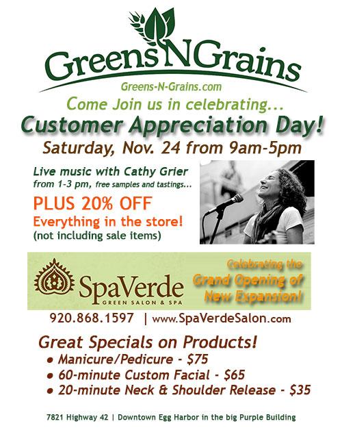 Greens N Grains & Spa Verede Customer Appreciation Day