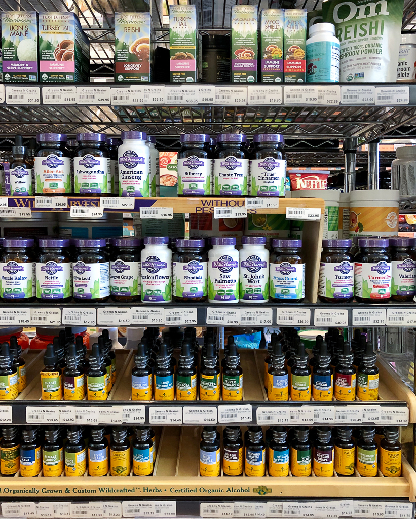 Vitamins and Supplements at Greens N Grains Natural Foods in Door County COVID response